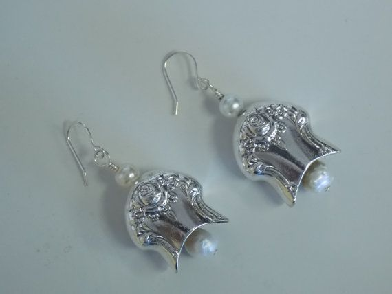 Silverware Earrings Spoon Jewelry Silver Bell by SimplySilverr, $18.50