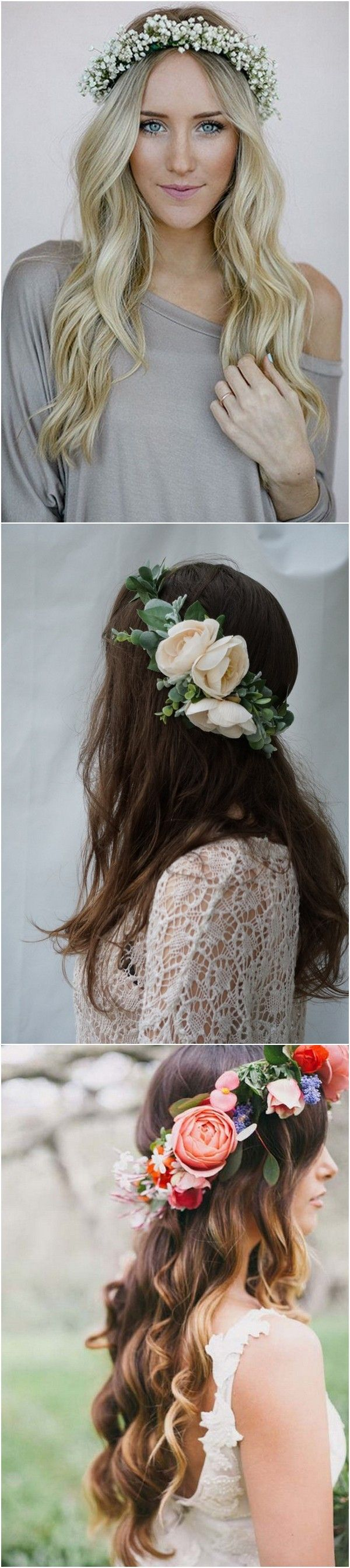 18 gorgeous wedding hairstyles with flower crown page 3 of 3 18 gorgeous wedding hairstyles with flower crown page 3 of 3 weddingideas flower crowns and wedding izmirmasajfo