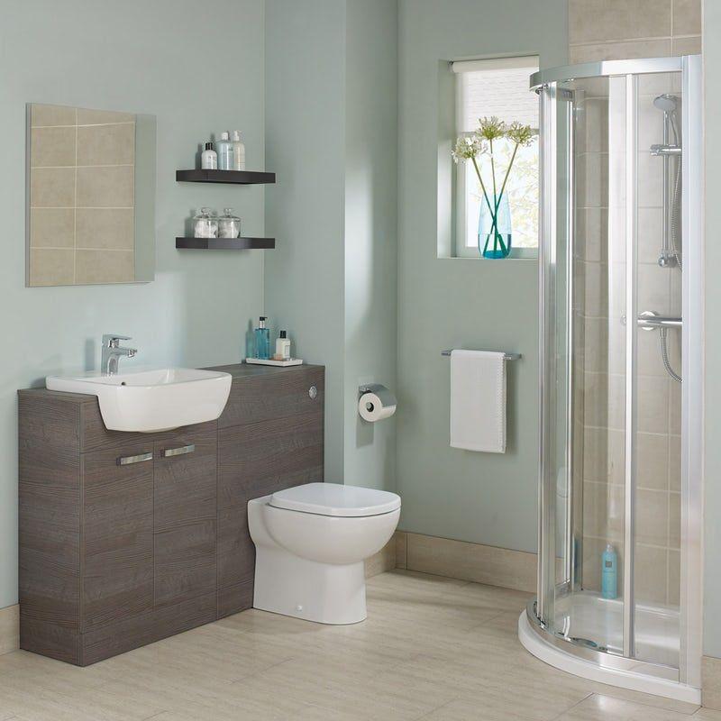 Ideal Standard Tempo Complete Sandy Grey Furniture Ensuite Shower Enclosure Suite 800 X 800 Best Bathroom Designs Concealed Cistern Shower Enclosure