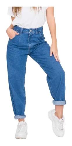 Jean Slouchy Mujer 8 Pinzas Rigido Tiro Alto 2 098 00 Pantalon Tiro Alto Ropa Jeans De Tiro Alto