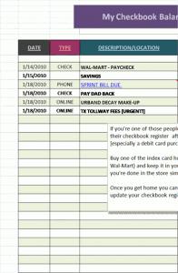 checkbook register template free printables pinterest office