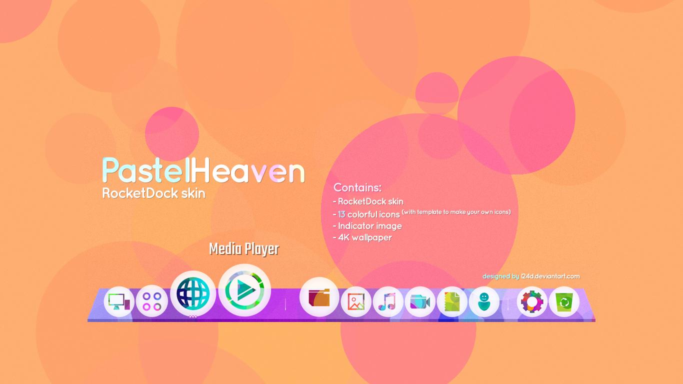 Cleodesktop Mod Desktop Pastelheaven Skin Rocketdock And Icons Skin Icon Image