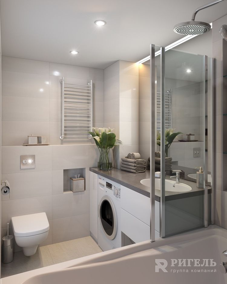 I Like This Idea Of Having The Washing Machine In The Bathroom