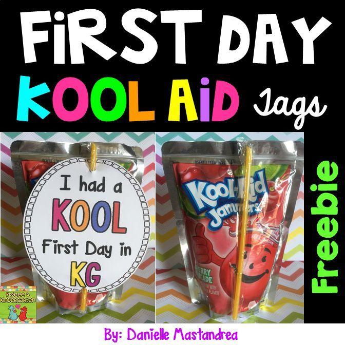 First Day of School Kool AId Tags FREEBIE