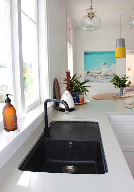 black sink kitchen knife storage cush and nooks my the reveal sinks
