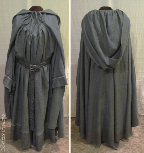 GANDOLPH LARGE WHITE  HOODED CAPE//CLOAK HALLOWEEN FANCY DRESS UK MADE