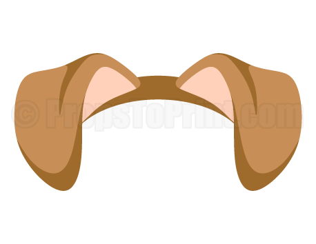 printable dog ears photo booth prop create diy props with our free