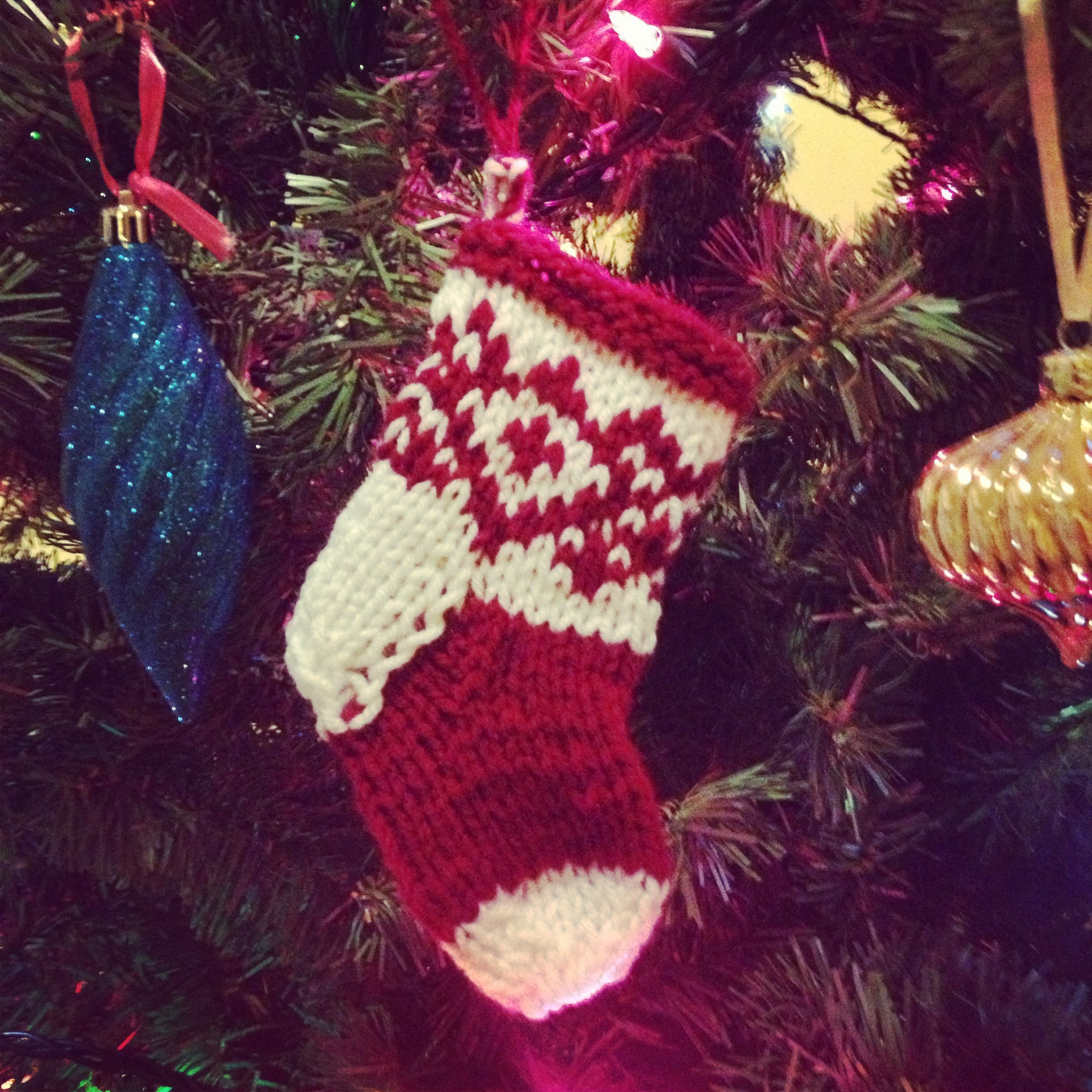 Christmas stocking ornament #diy #stocking #ornament Pattern: http ...