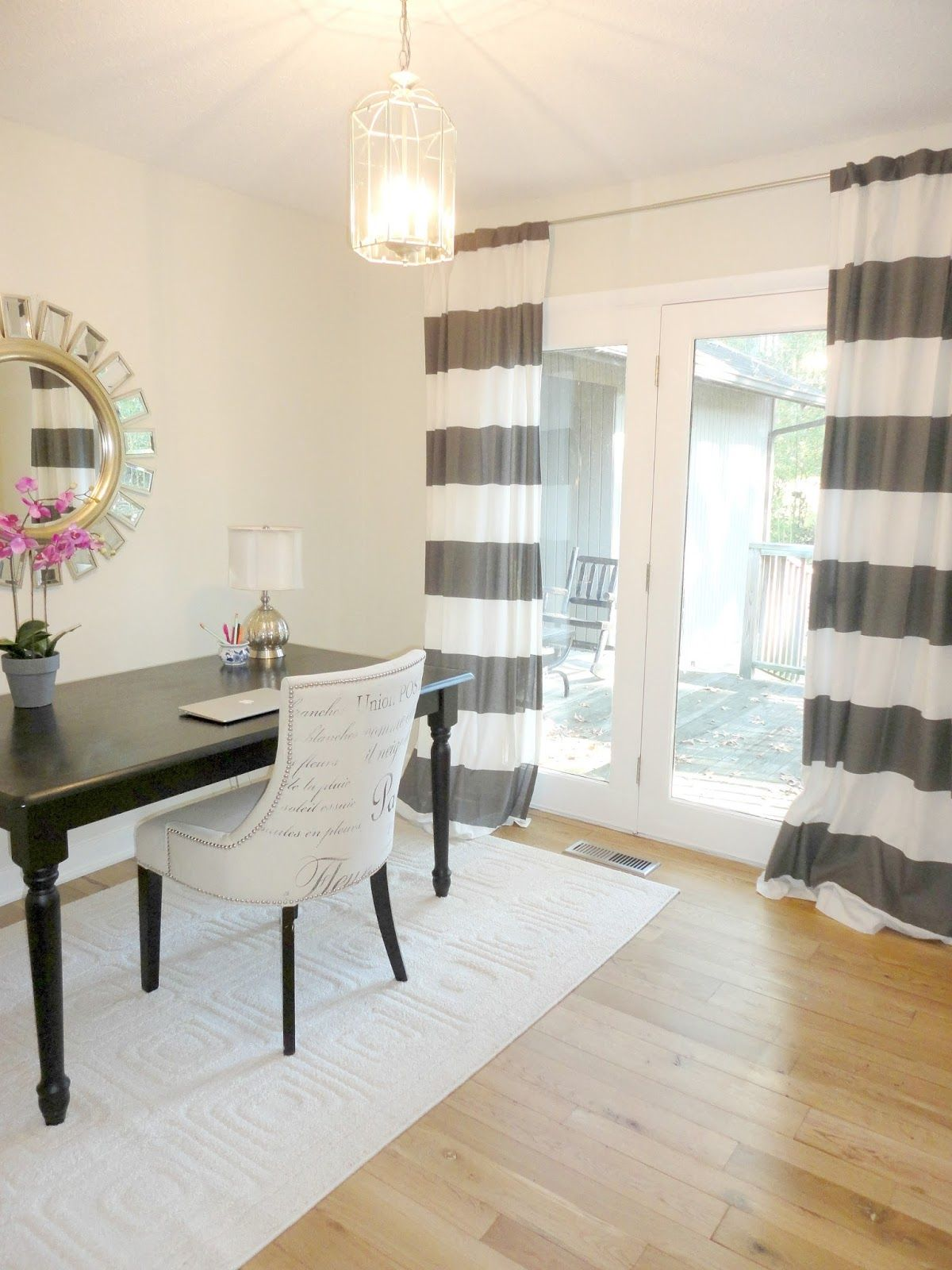 Diy No Sew Two Toned Curtains Great Tutorial On How To