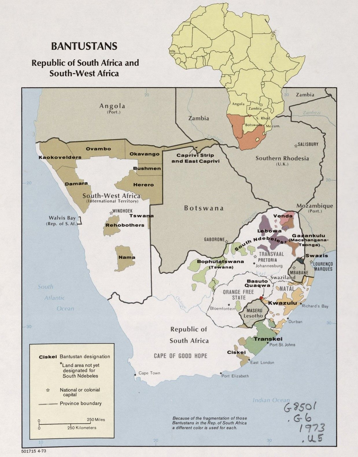 Bantustans republic of south africa and south west africa 1973 bantustans republic of south africa and south west africa 1973 ccuart Images