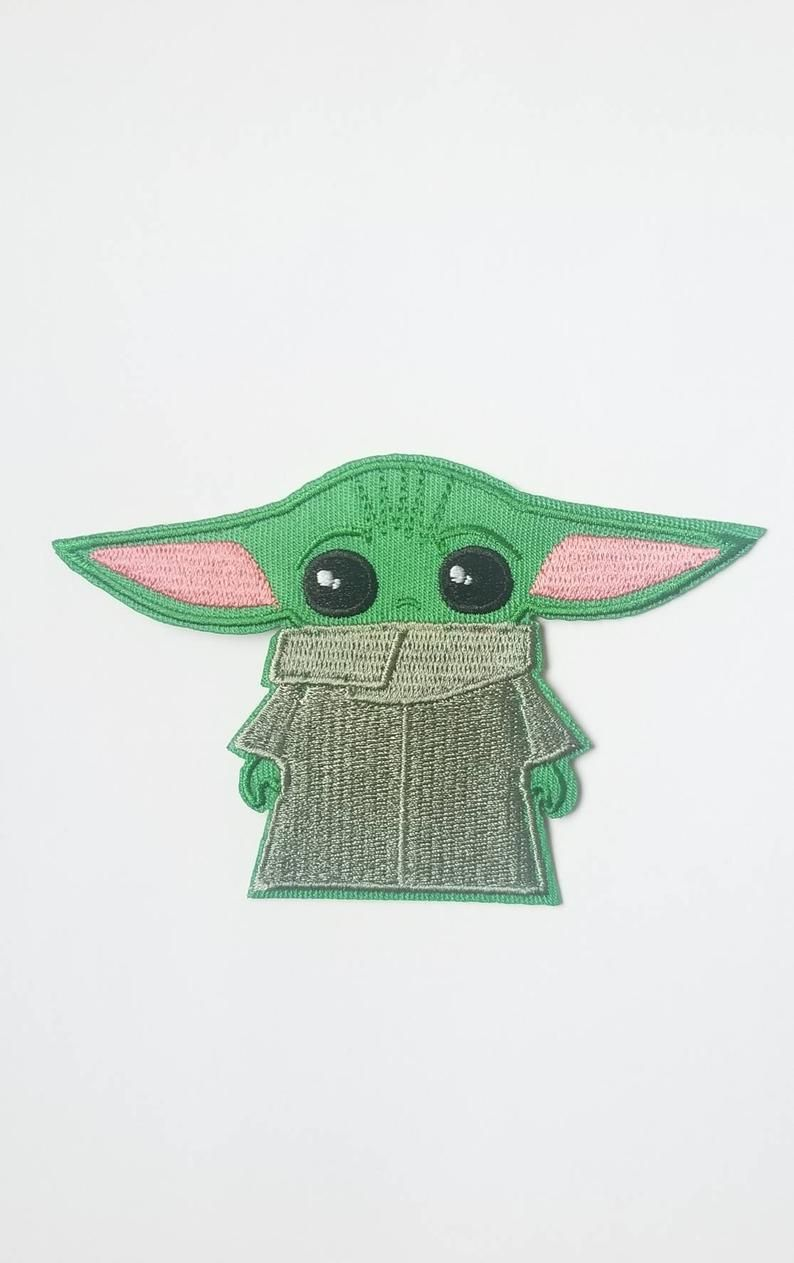 Handmade Cute Baby Yoda Iron On Patch