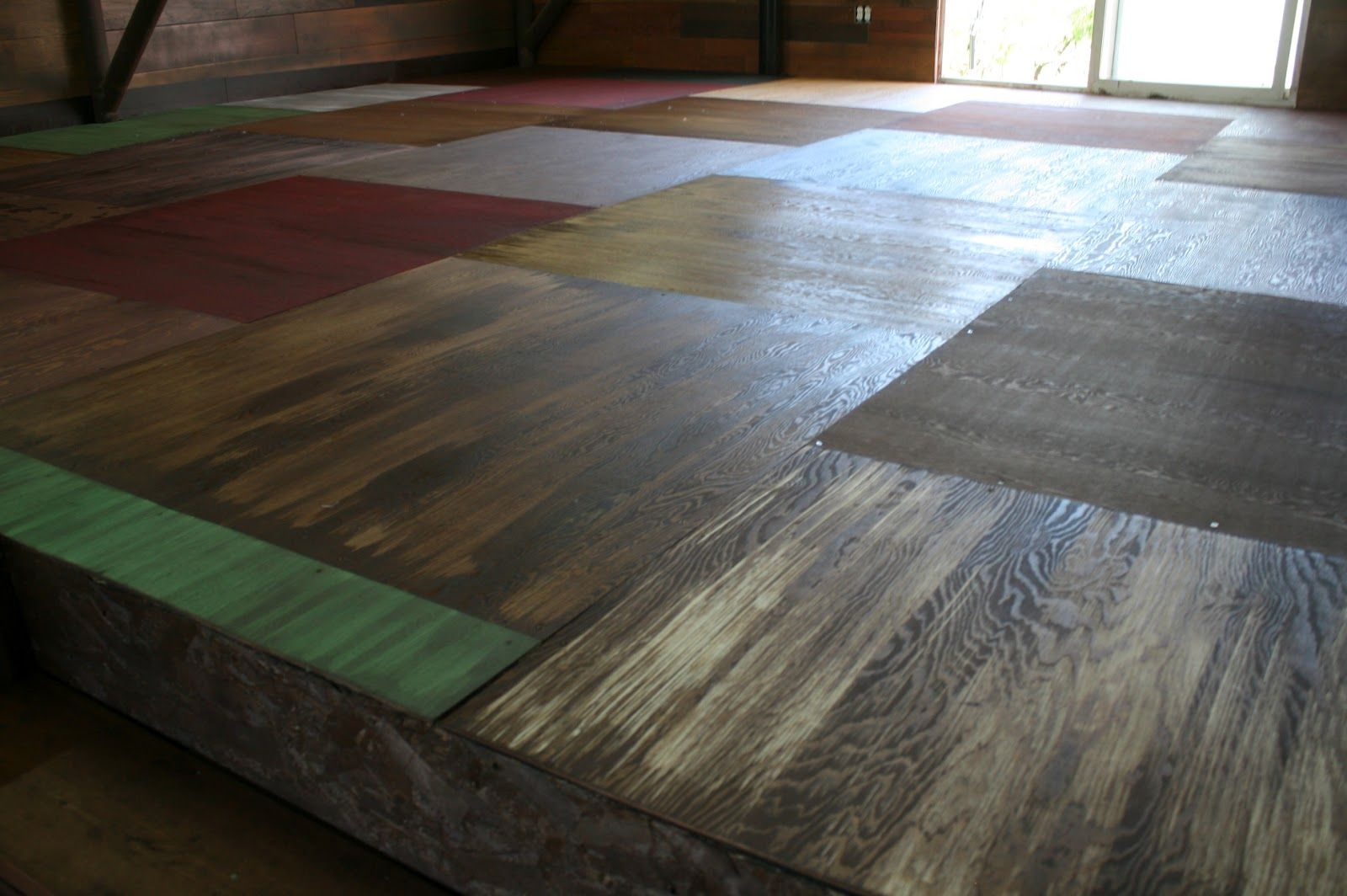 painted plywood floors  just floored over this one