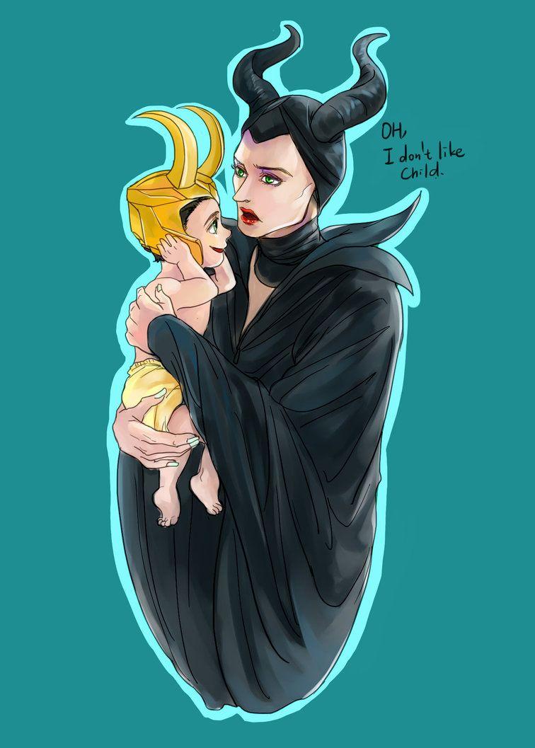 Maleficent And Child Loki By Fonin On Deviantart Marvel