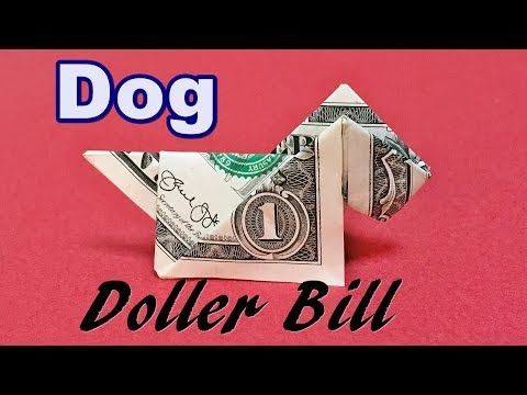 how to make a dog out of money