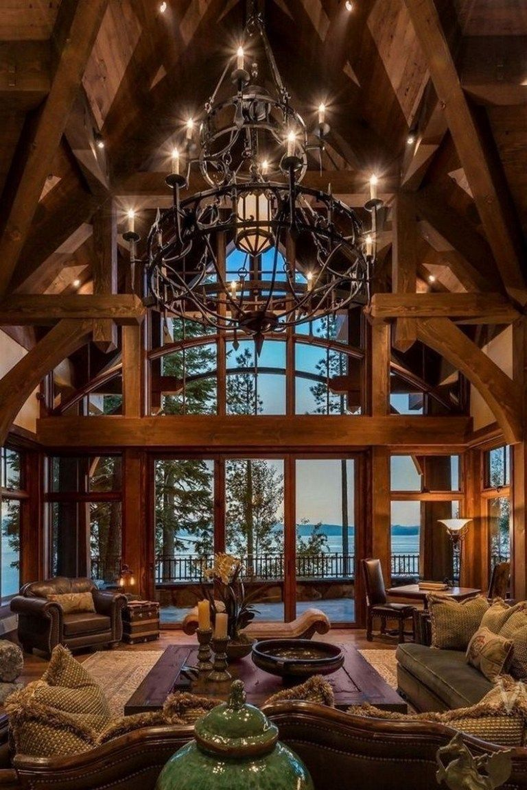 ✔40 amazing rustic homes fireplace design ideas 6 #mountainhomes