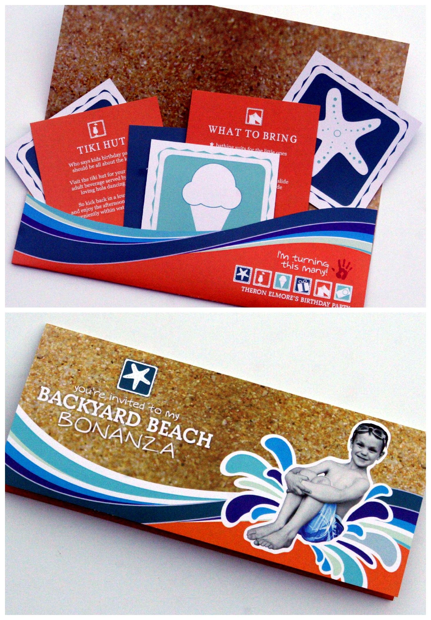 Beach Theme Birthday Invitation. Fun! | Whirlin\' Away | Pinterest ...