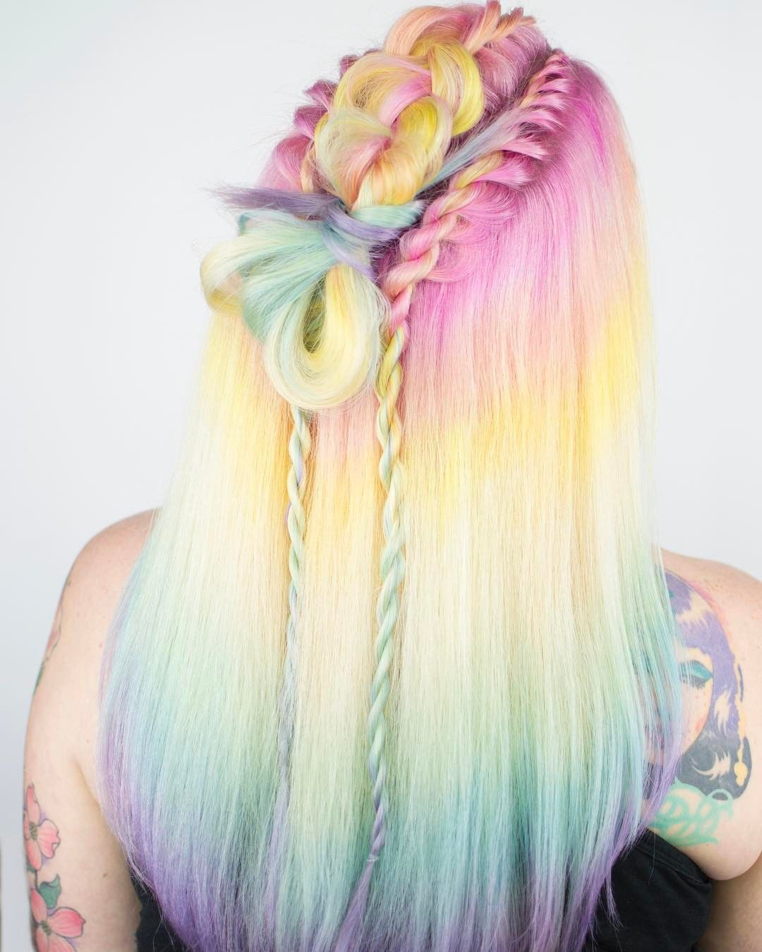 "1,360 Likes, 22 Comments - St Louis - Hairstylist (@caitlinfordhair) on Instagram: ""Tie Dye Knots I am loving Dutch twists lately! They remind me of those twisty Unicorn…"""