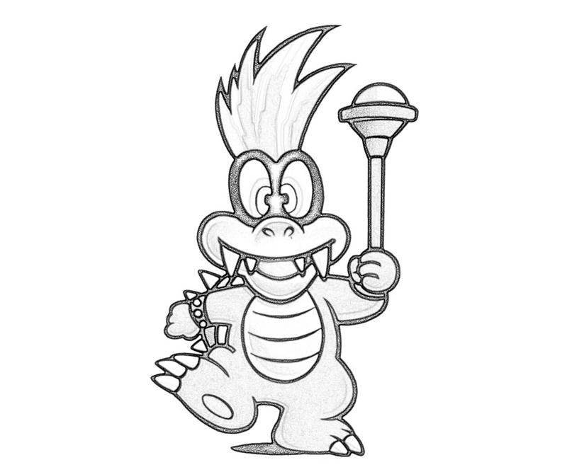 Iggy Koopa Play Coloring Pages Mario Coloring Pages
