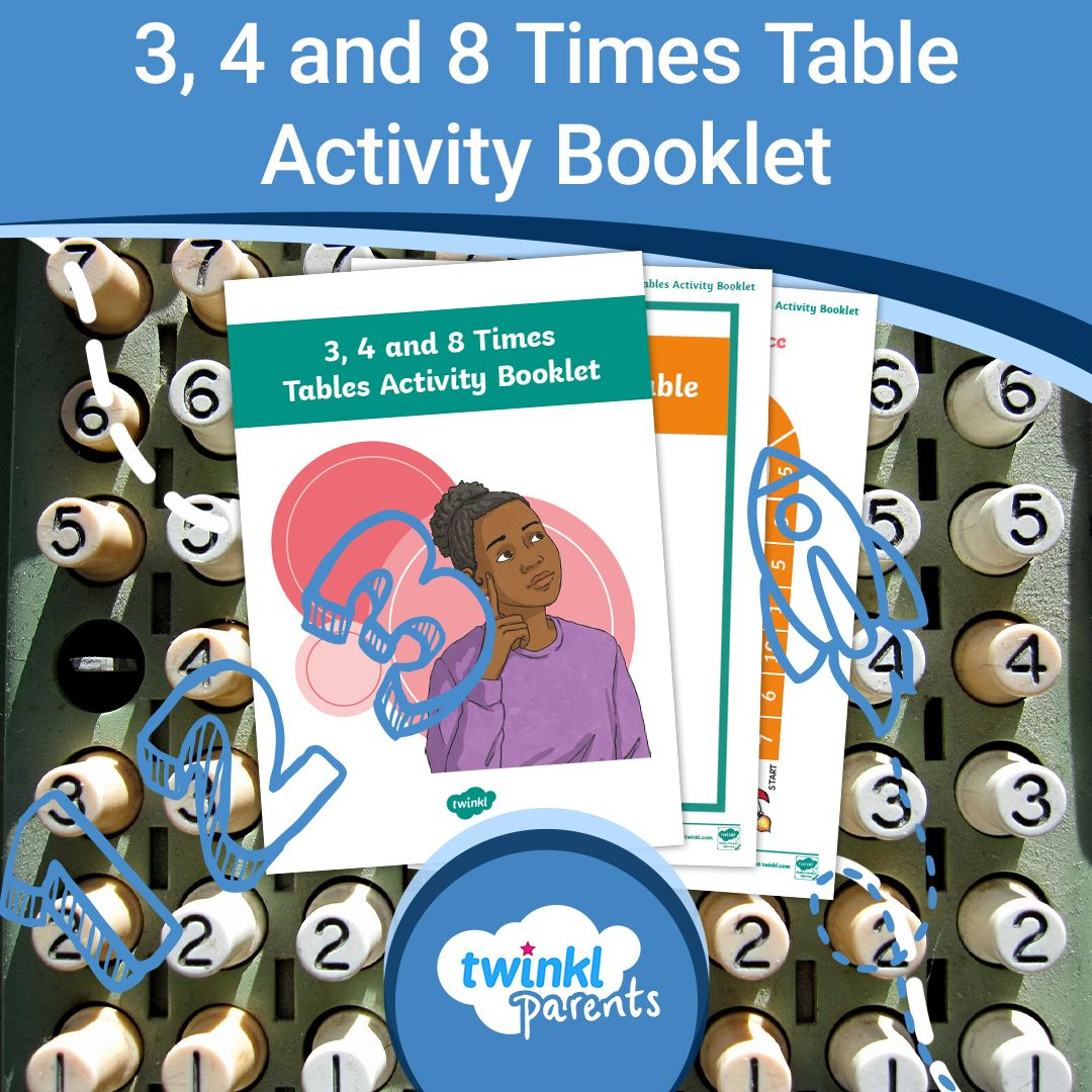 3 4 And 8 Times Tables Activity Booklet In