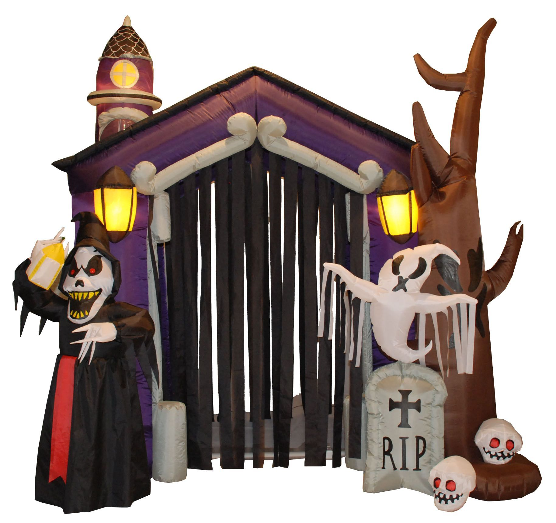 Halloween Inflatable Haunted House Castle with Skeletons Products - Halloween House Decoration