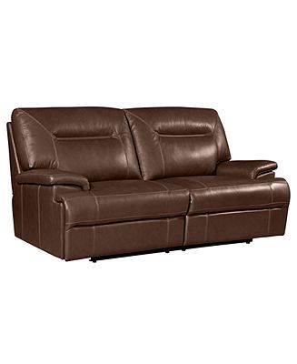 Pleasant Dario Power Leather Reclining Sofa Furniture Macys Dailytribune Chair Design For Home Dailytribuneorg