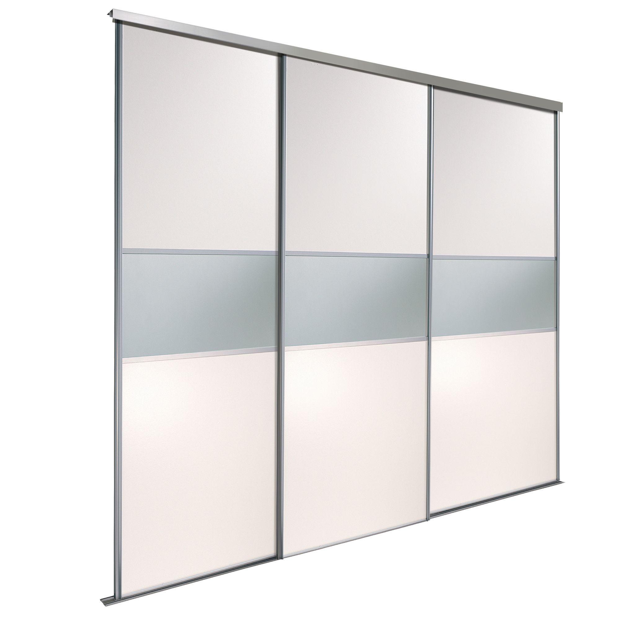 Fineline White Mirror Sliding Wardrobe Door Kit (H)2220 mm (W)914 mm Pack of 3  sc 1 st  Pinterest & Fineline White Mirror Sliding Wardrobe Door Kit (H)2220 mm (W)914 mm ...