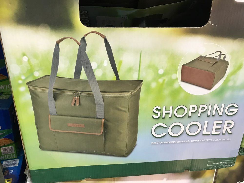 Keep Cool Insulated Ping Cooler Bag Extra Large Costco Rectangular Green Keepcool Coolertotebag