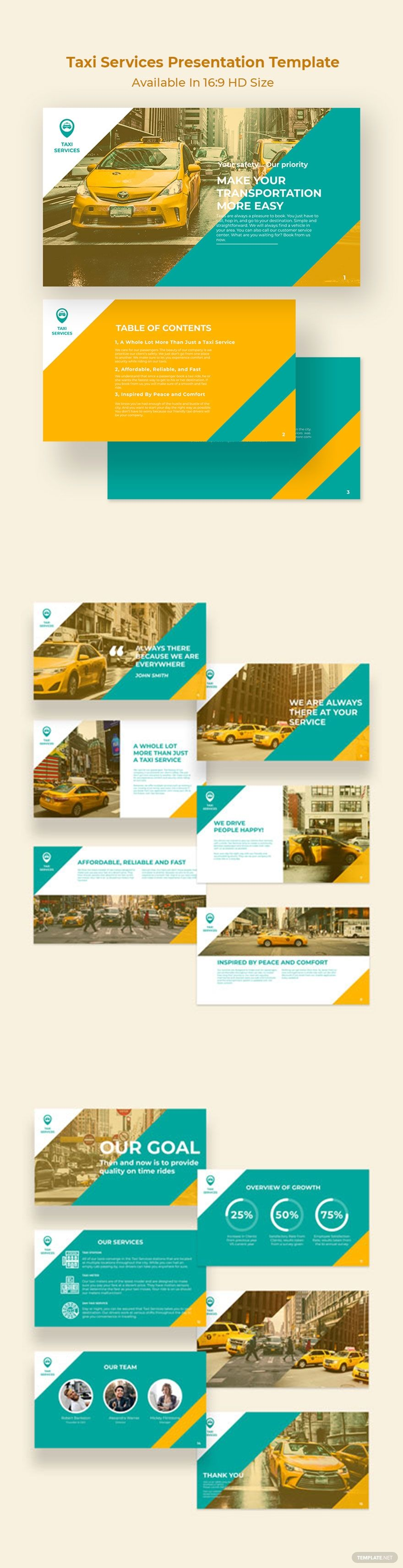 Taxi Services Presentation Template Pdf Word Apple Pages Google Docs Powerpoint Apple Keynote Presentation Templates Rack Card Templates Taxi Service