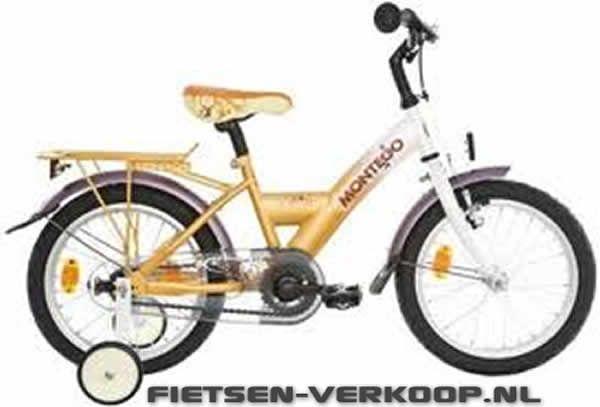 Meisjesfiets Montego Mimi Oranje 16 Inch   bestel gemakkelijk online op Fietsen-verkoop.nl
