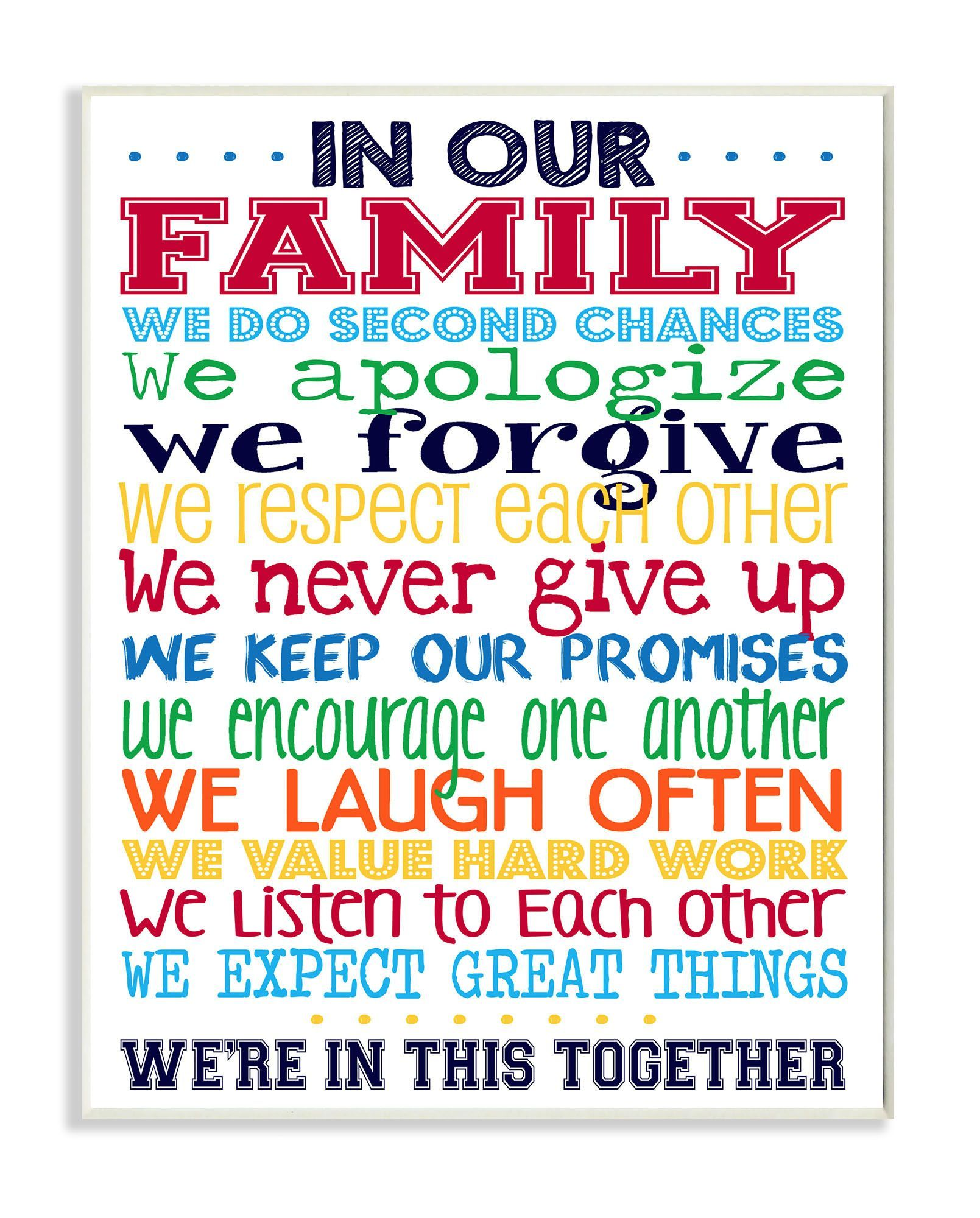 bedroom wall plaques. In Our Family Rainbow Typog Wall Plaque Bedroom Plaques