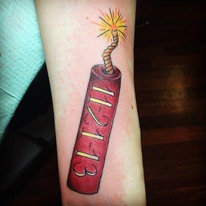 Dynamite Tattoo Tattoos By Pineapple Tattoos Bamboo Tattoo