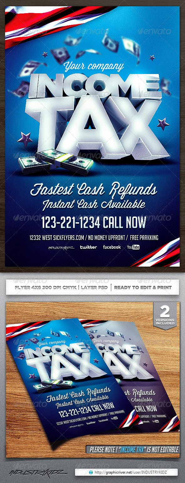 Income Tax Flyer Template | Flyer template, Template and Business flyers