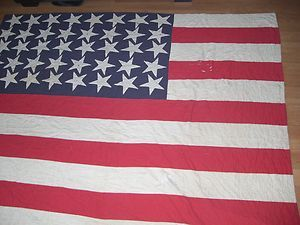Antique Original 1890 S Rare Us Flag Historical Quilt 40 Stars Ebay Historical Quilts Historical Antiques
