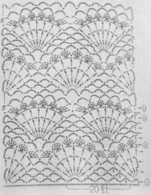 Free Pattern knitting - Stitch Open Skies shells - Crochet Yarn ...