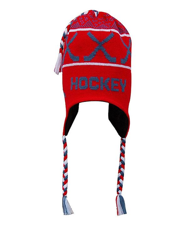 Look what I found on  zulily! Red  Hockey  Earflap Beanie by ... b020e71cc89d