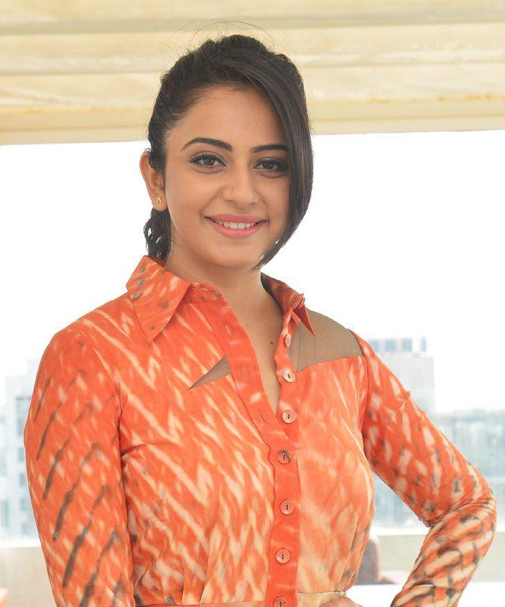 f0ab628d0ff4 Rakul Preet Singh Latest Photos In Orange Dress | rakul preet ...
