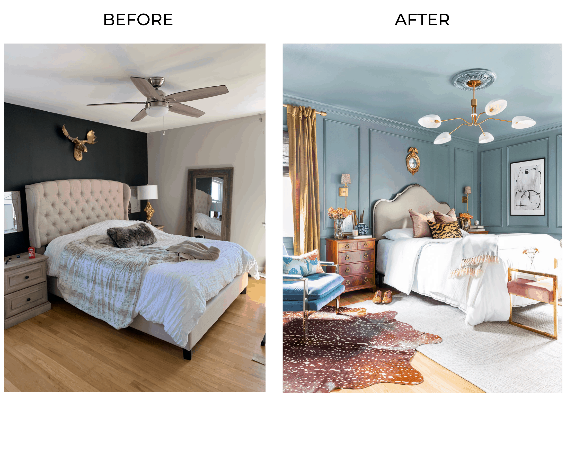 One Room Challenge The Reveal A Modern Traditional Master Bedroom Master Bedroom Paint Master Bedroom Blue Rooms