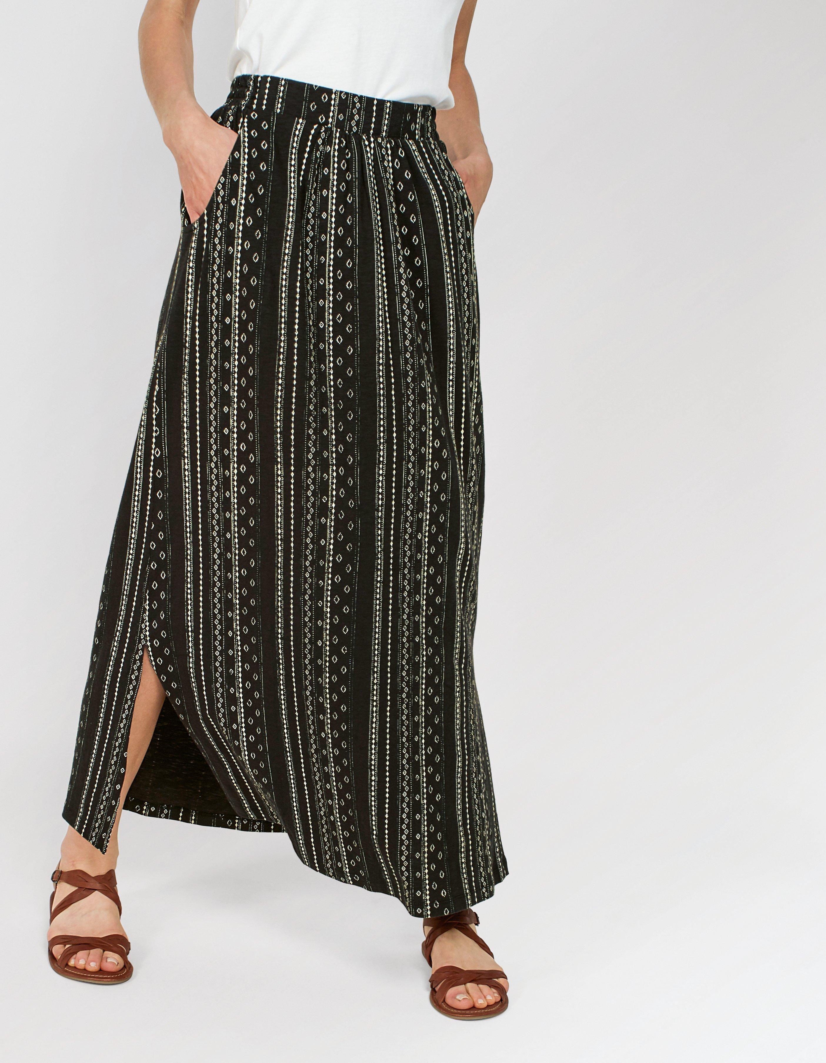 86b3f1cb60 Amber Sketch Stripe Maxi Skirt Striped Maxi Skirts, Sequin Skirt, Fat Face,  Harem