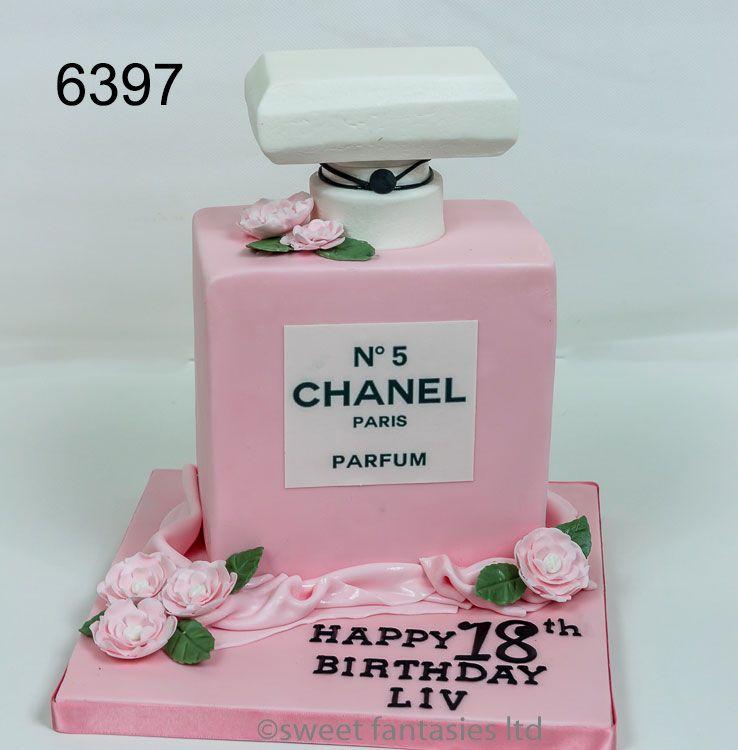 Astounding Chanel Perfume Bottle 18Th Birthday Cake Birthday Cake For Funny Birthday Cards Online Necthendildamsfinfo