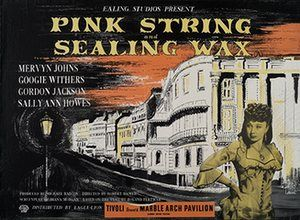 Ealing studios: Pink String and Sealing Wax poster designed by John Piper