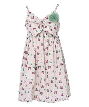 Look what I found on #zulily! Cream Sweet Rosette Dress - Toddler & Girls #zulilyfinds