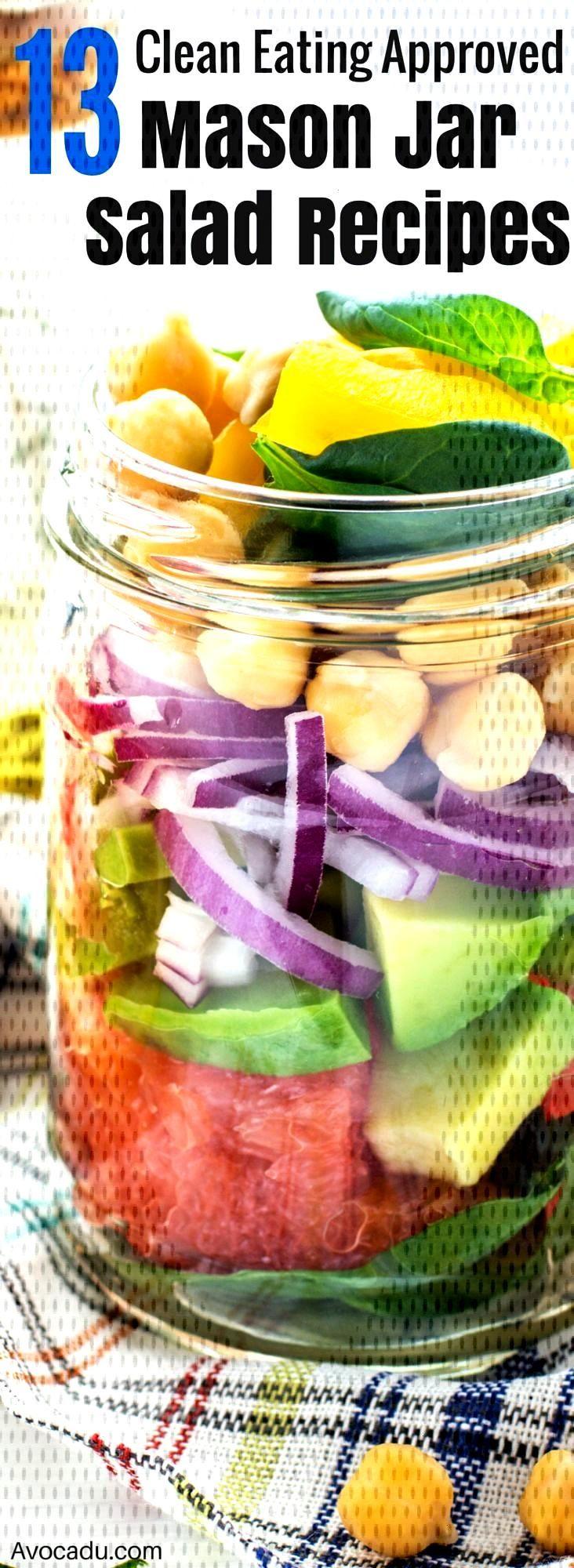 13 Mason Jar Salads That Make Perfect Healthy Lunches, 13 Mason Jar Salads That Make Perfect Healt