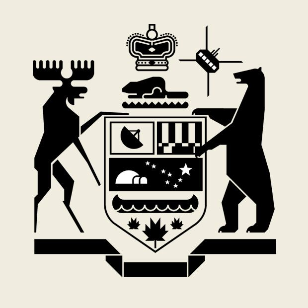 Ontario Roots Crest For Douglas Coupland By Helios Inspired By The