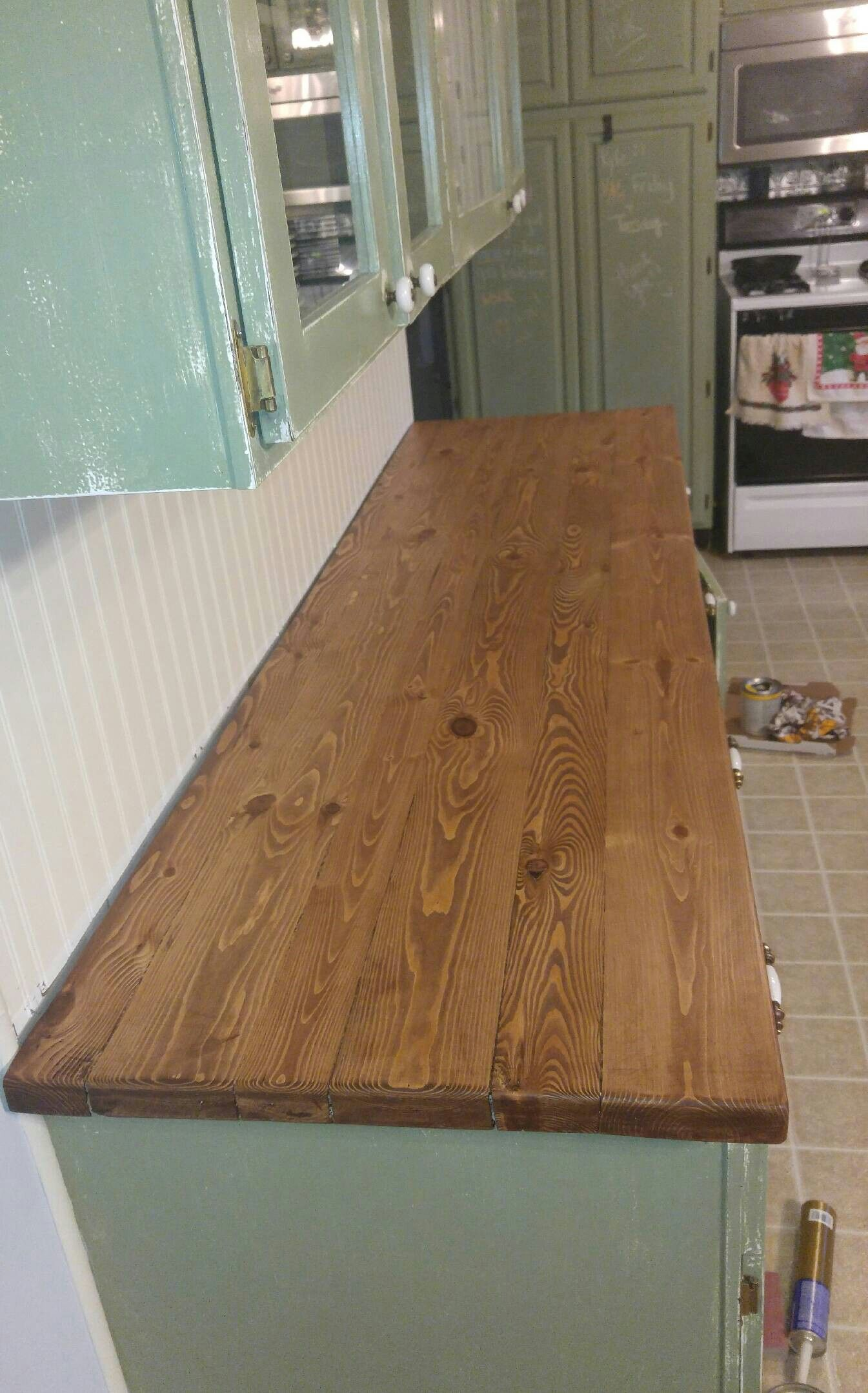 Wood 2x4 2x6 Countertop Do This In The Butlers Pantry But Add