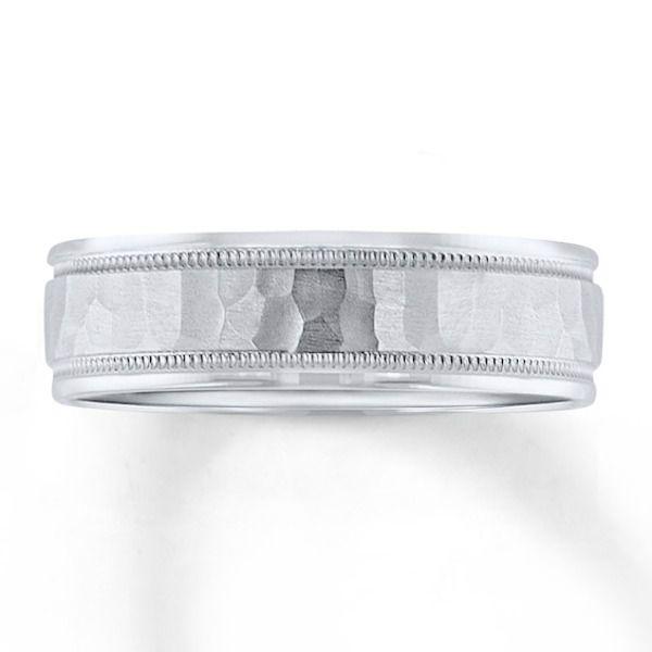 Wedding Band 10K White Gold 6mm|Kay