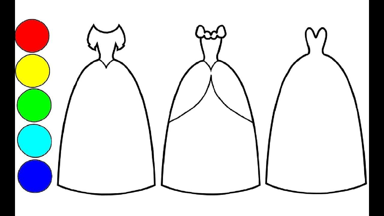 Wie Zeichnen Und Farben Prinyessin Kleider Fur Kinder Prinzessin Kleid Kinder Kleider Prinzessin Kleid Zeichnen