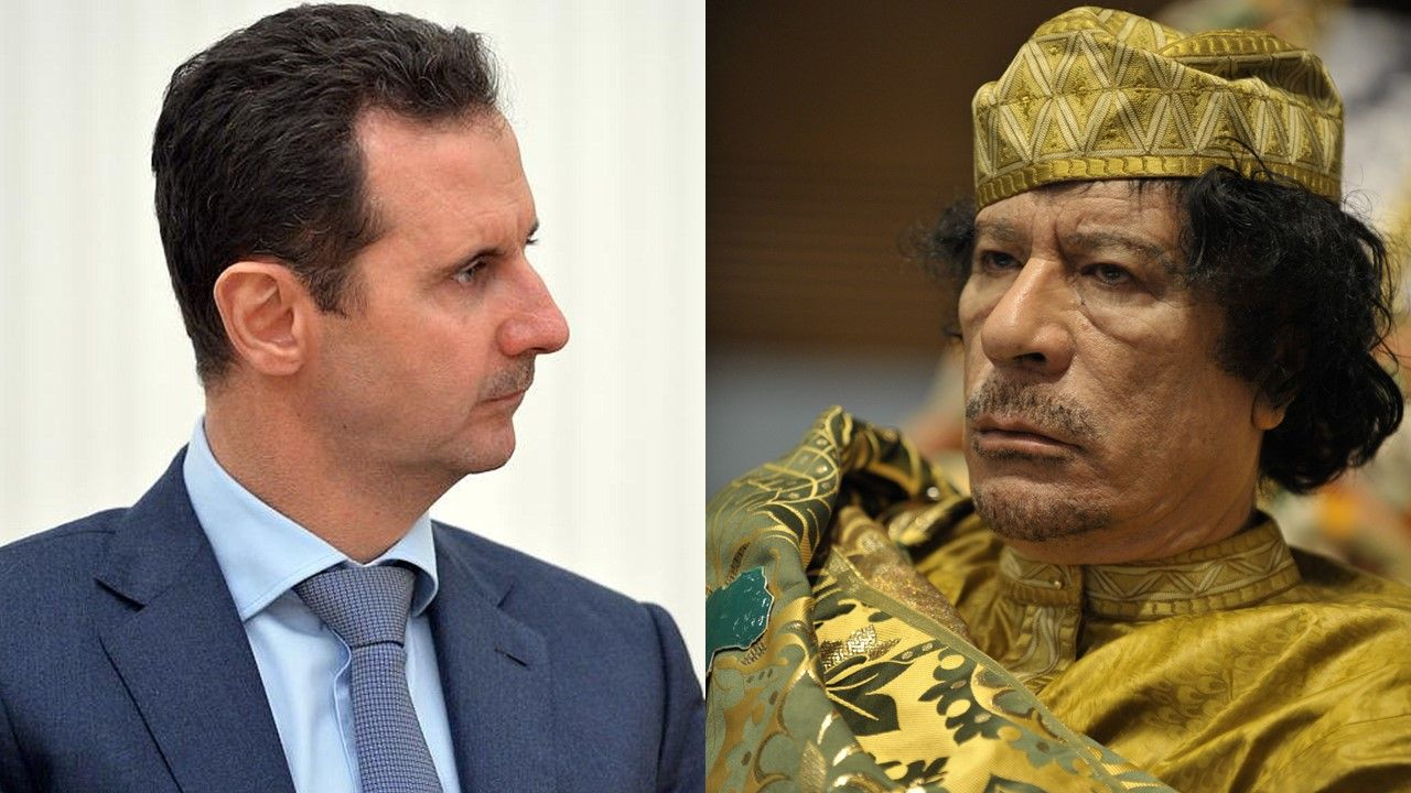 Would Libya and Syria Be Better Off Without Their Revolutions? - http://www.richardcyoung.com/essential-news/libya-syria-better-off-without-revolutions/ - Syrian President Bashar al-Assad (l) and former Libyan Prime Minister Muammar al-Gaddafi (r) To look at US policy toward those two countries over the past five years, the general view seems to be that things couldn't get worse, so Washington has pushed for change. In both countries, change has c...
