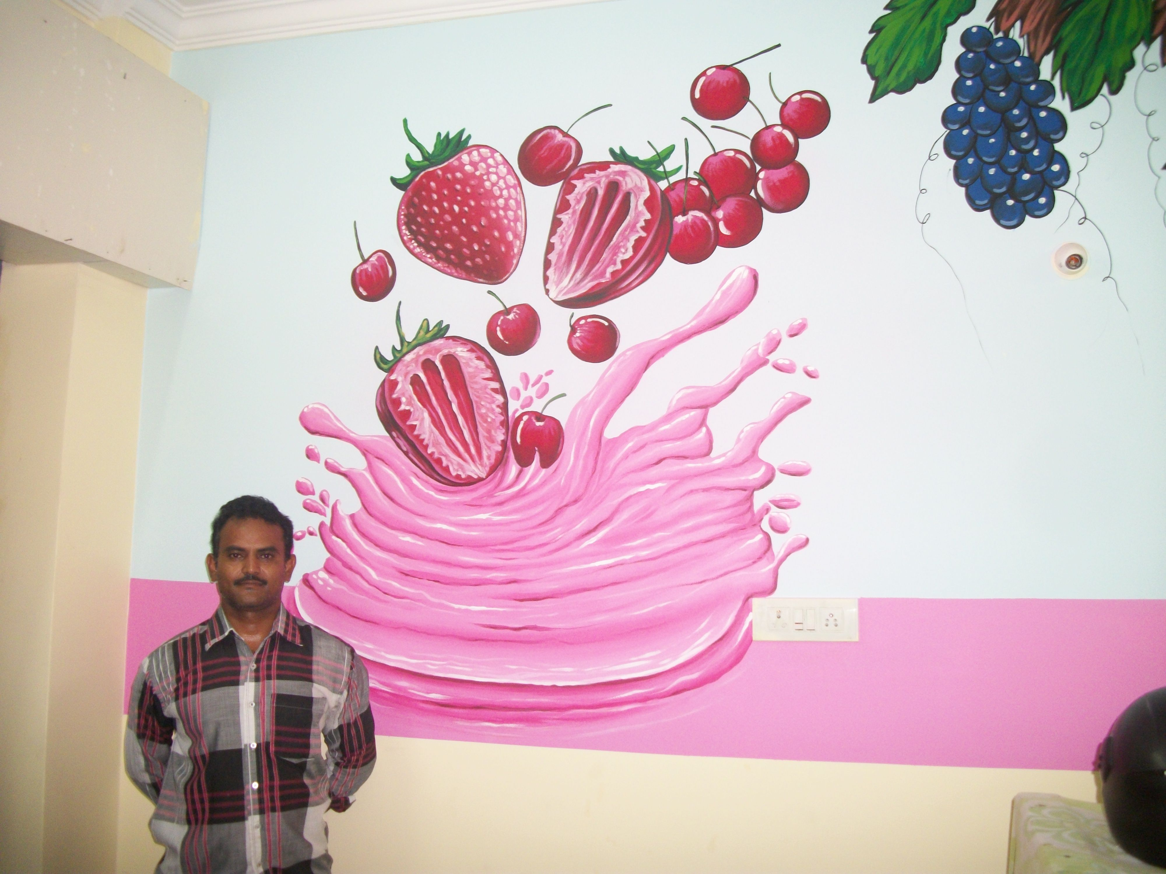 Wall Paint Design In Hyderabad Room Wall Painting Wall Paint Designs Wall Painting
