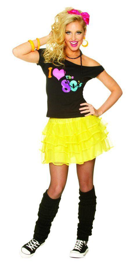 80's neon shorts  c99880'sneonyellowskirt  80s