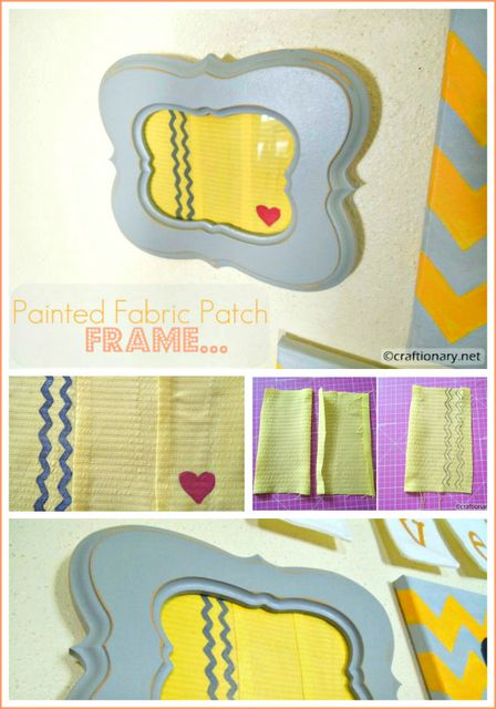 Painted Fabric Patch Frame (tutorial | Fabric patch, Paint fabric ...